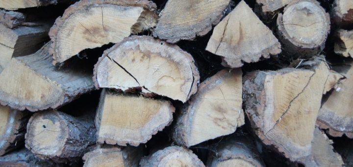 Ułożone drewno