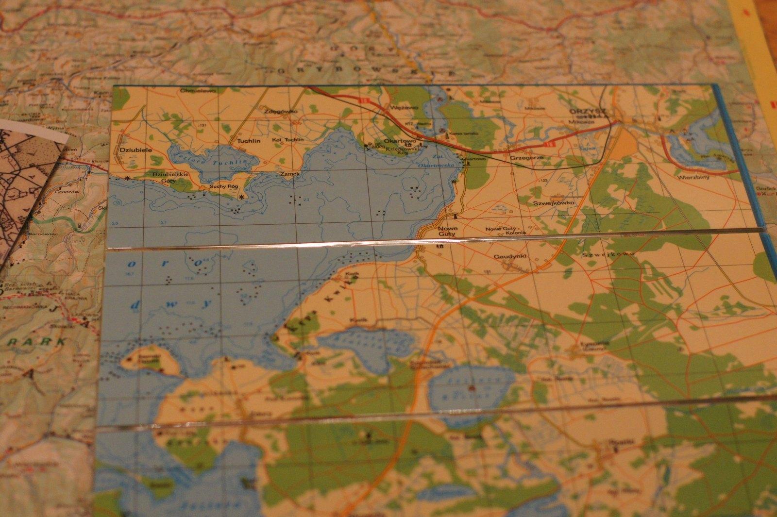 Mapa laminowana