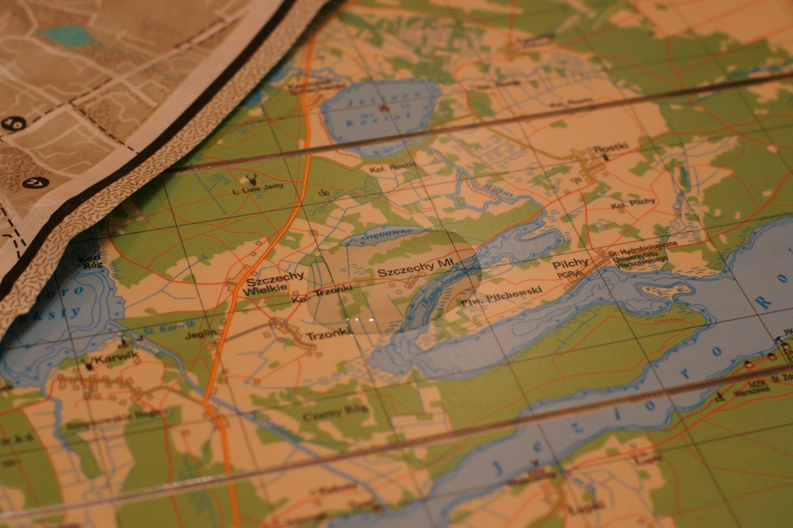 Mapa laminowana - zmoczona