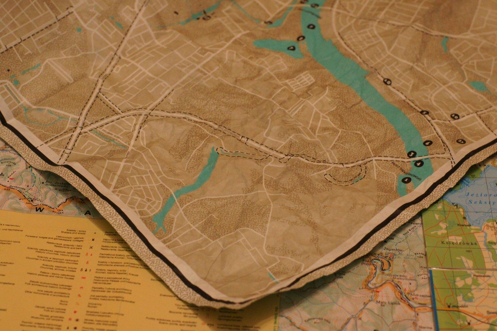 Mapa Tyvek - po wyprostowaniu