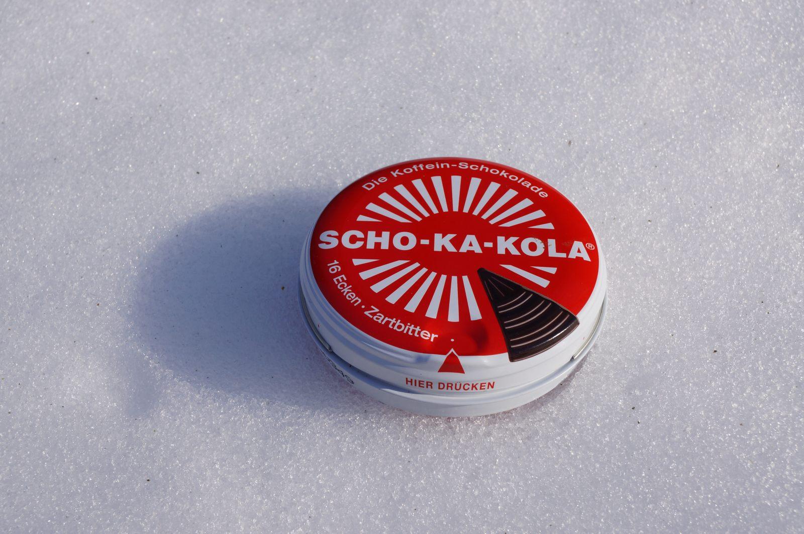 SCHO-KA-KOLA. Czekolada energetyczna z zawartością naturalnej kofeiny.